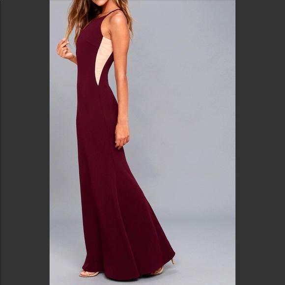ab4ba4abc8b8 Lulu's Dresses | Lulus Burgundy Prom Dress | Poshmark